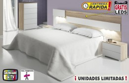 Dormitorio adulto COMPLETO con luces LED OFE DIA 08-18-28A