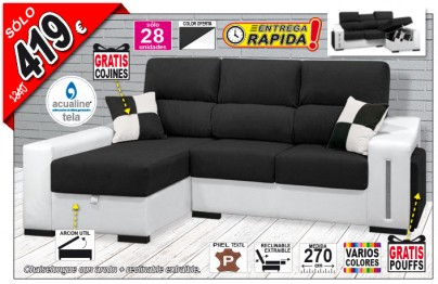 Chaise longue extraible reclinable y arcón OFE DIA 04-14-24A