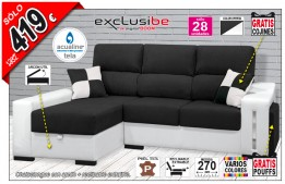 Chaise longue extraible reclinable y arcón OFE DIA 01-11-21A