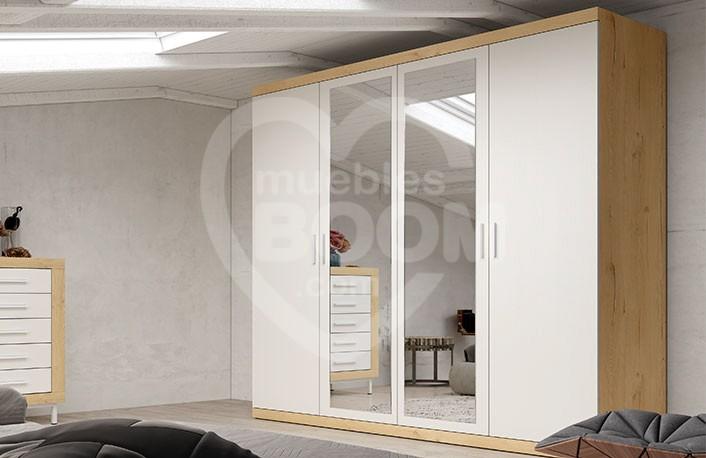 Armarios 4 puertas con luna espejo 002.217