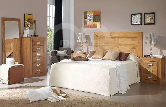 Dormitorios matrimonio con madera y sinfonier 059-018