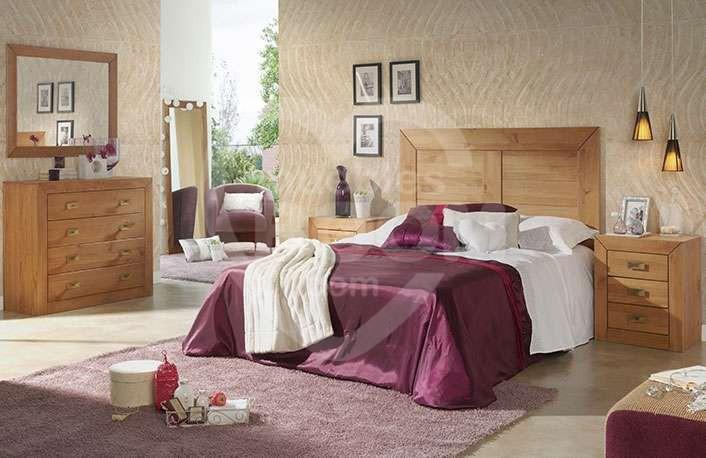 Dormitorios matrimonio con madera y comoda 059-018