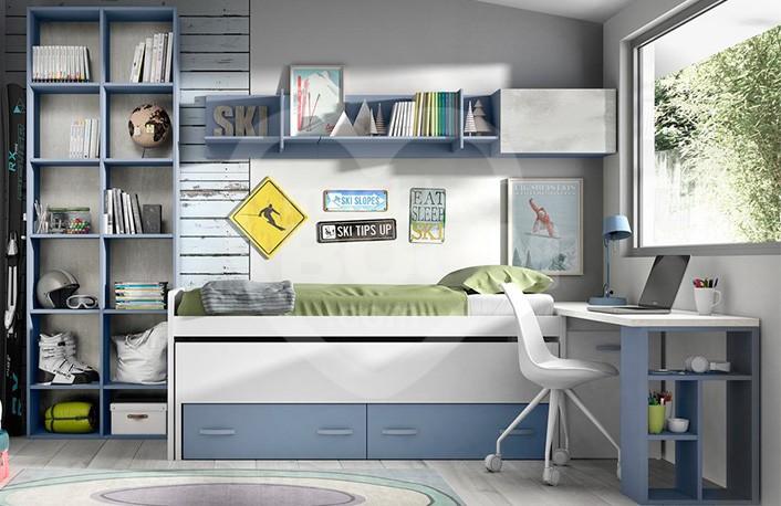 Dormitorios juveniles con zona estudio