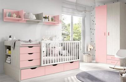 Dormitorio convertible con armario y zona estudio 019-066
