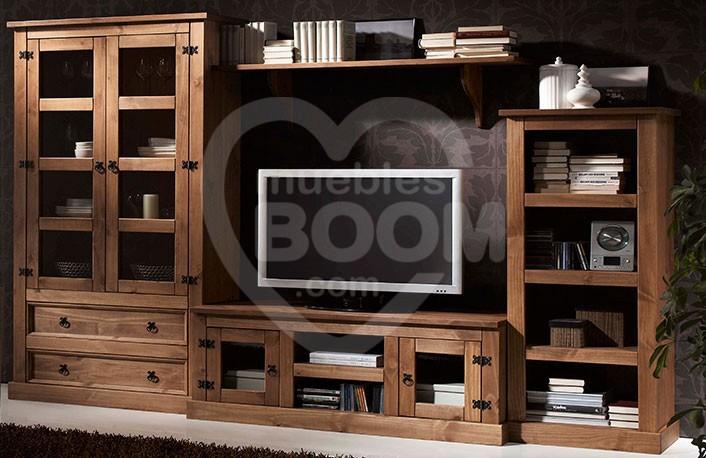 Composiciones de salón 290 cm. con madera 059-028
