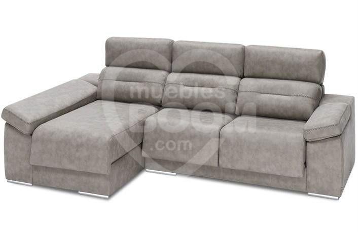 Chaise longue izquierda reclinable extraible con arcón 058-022