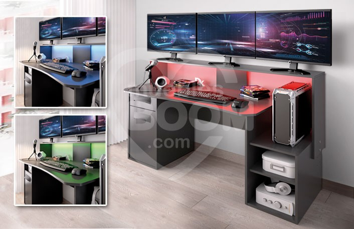 Mesa Gaming con luces LED colores OFE MES G1