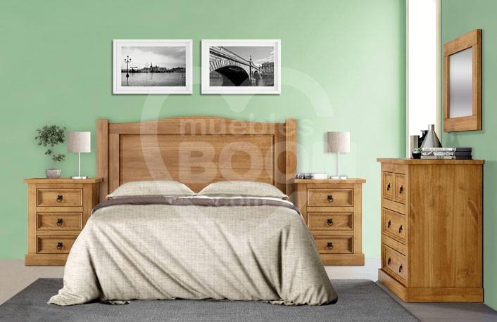 Dormitorios matrimonio con madera y comoda 059.027
