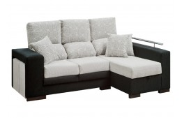 Chaiselongue de tela moderno con asientos reclinables