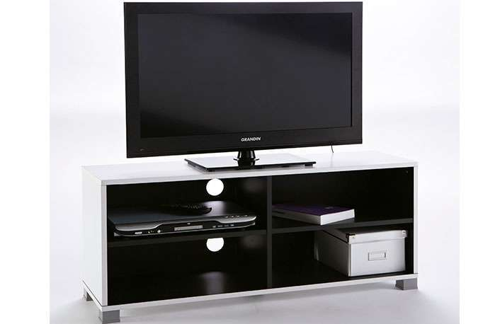 Mueble Tv moderno en color blanco y negro