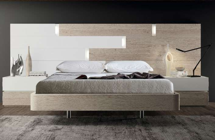 Dormitorio moderno color nature blanco