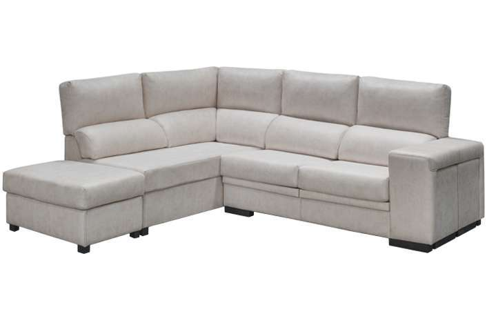Chaise longue rinconera extraible y reclinable