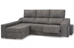 Chaise longue extraible y reclinable