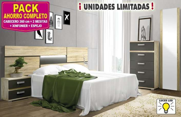 Dormitorio moderno con luces LED
