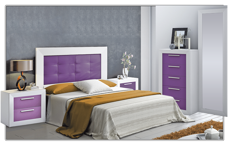Tu casa se va a poner morada blog de decoraci n de for Ver dormitorios decorados