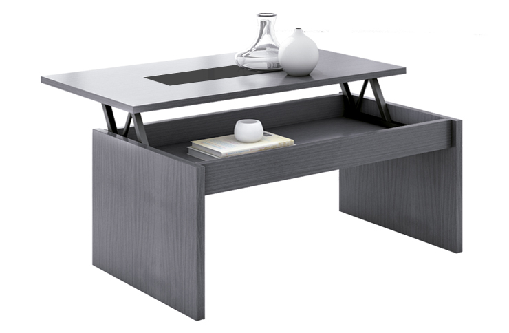 Mesa de centro elevable color gris