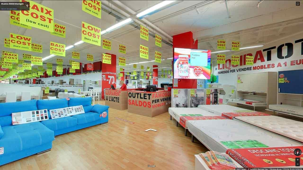 Recorre nuestras tiendas a través de nuestra visita virtual a muebles BOOM