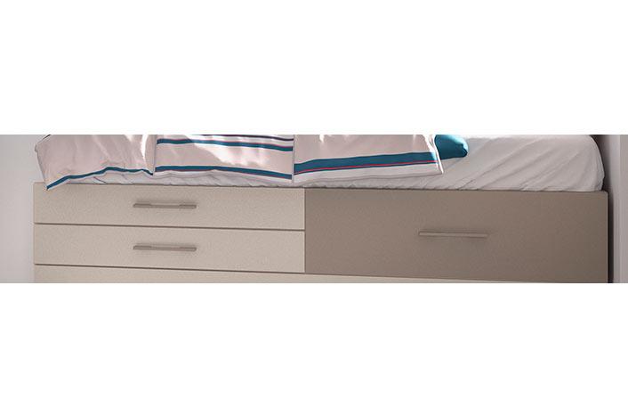 Base de cama nido juvenil con cajones opcionales for Cama nido sin cajones
